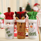 Merry Christmas Santa Deer Wine Bottle Bags Cover Xmas Dinner Party Table Decor