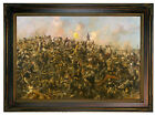Paxson Custer's Last Stand 1899 Wood Framed Canvas Print Repro 12x18