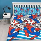 Childrens Spiderman 'Popart' Reversible Rotary Double Bed Duvet Quilt Cover Set