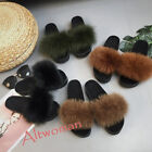New Fashion Women's Casual Flat Real Fur Slippers Indoor Slingback Sandals Shoes