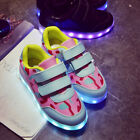 Kids LED Light Up Shoes USB Charging Sneakers Lights for Boys Girls Hook & Loop