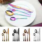 24pcs Rainbow Stainless Steel Tableware Cutlery Dinnerware Set for 6 Flatware