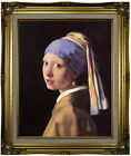 Vermeer The girl with a pearl earring Framed Canvas Print Repro 16x20