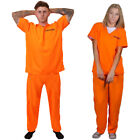 ADULT COUPLES PRISONER COSTUMES CONVICT HALLOWEEN FANCY DRESS HIS AND HERS