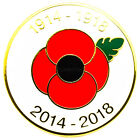 NEW RED POPPY LAPEL PIN ENAMEL BADGES BROOCH COLLECTION BRITISH UK MILITARY 2017