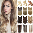 Hidden Invisible Wire Hairpiece Secret Miracle Wavy Straight Hair Extensions TW5