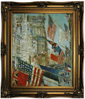 Hassam Allies Day, May 1917 Framed Canvas Print Repro 20x24