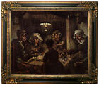 van Gogh The Potato Eaters Framed Canvas Print Repro 20x24