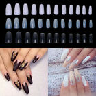 3 Color Long Ballerina Coffin Shape Full Cover False Nail Art Tip Pack of 600