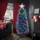 Xmas Star Christmas Tree Fibre Optic LED Lights Colour Changing 2ft 3ft 5ft 6ft