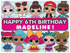 EDIBLE LOL Surprise Dolls Cake Topper Birthday Party Wafer Paper Sheet (8x10.5