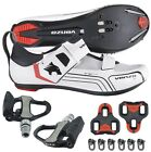Venzo Cycling Bicycle Bike Triathlon Shoes with Pedals For Shimano SPD SL Look