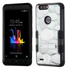 For ZTE Blade Z Max Rubber IMPACT TUFF Hybrid KICKSTAND Case Phone Cover