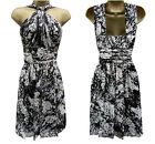New KAREN MILLEN Silk BNWT £175 Floral Print Evening Party Corset Dress SALE