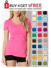 SCOOP Neck T SHIRT Short Sleeve Long Length COTTON ZENANA S/M/L/XL FREE SHIP USA