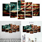 5PC Home Office American Flag Canvas Wall Decor Art Painting Picture Print US