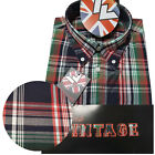 Warrior UK England Button Down Shirt MCGOOHAN Slim-Fit Skinhead Mod Retro
