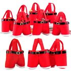 Lovely Christmas CANDY GIFT TOYS CARRY BAG Red Santa Pants-Shoes Treat Xmas Bag