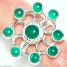 Emerald Green Onyx 925 Sterling Silver Ring Gemstone Cocktail Rings; 7, O; 8½, R