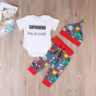 US Stock Many Style Baby Boys Girls Cotton Romper Coming Home Outfit Clothes Set