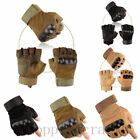 Outdoor Military Hard Knuckle Half Finger Gloves Paintball Tactical Motorcycle