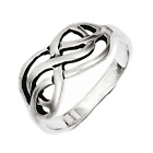 925 Sterling Silver Weaved Loose Knot Ring