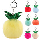 10CM Pompom Handbag Keyrings Ball Key Chain Pendant Charm Rabbit Fur Fluffy