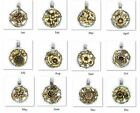 birth flower for september - Beaucoup Designs Birth Month And Flower 2 Tone Pendants / Charms