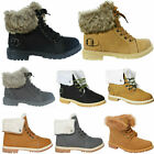 Kyпить WOMENS WINTER ANKLE BOOTS LADIES ARMY COMBAT FLAT GRIP SOLE FUR LINED SHOES SIZE на еВаy.соm