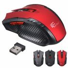2.4 GHz +USB 2.0 Optical Mouse PC Laptop Red Wireless 2017 Mice Receiver for