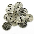 Gold Silver Costume Sewing Theater Buttons 2 Holes Small 12mm pack 10 B93