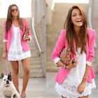 Hot Office Women New Slim Suit Blazer Jacket Casual Ladies Solid  Color Outwear