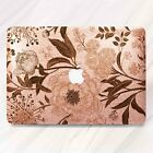 Vintage Floral Rose Gold Glitter Hard Case Macbook Pro Air Retina 11 12 13 15