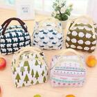 Kids Women Canvas Large Insulated Thermal Lunch Box Bento Cooler Tote Picnic Bag
