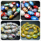 16x21MM  18x23MM  22x30MM  Handwork Lampwork Glass Wave Oval Spacer Beads 20PCS