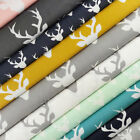 Art Gallery Buck Forest Fabric / quilting stag deer christmas grey mustard navy