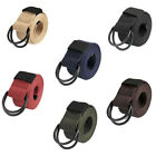 130cm Canvas Belt Double D Ring Buckle Strap Webbing Military Unisex 1Pc