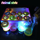Colorful Rainbow Plastic Magic Coil Spring Glow-in-the-Dark Children's Toy