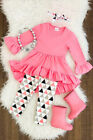 Baby Girl Outfits Long Sleeve Clothes Kids Toddler T-shirt Tops Dress+Long Pants