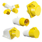 110V 16A 3 Pin Industrial Plug & Sockets IP44 Industrial Building Site Work