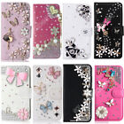 Flip Cover Handmade Phone Case PU Leather Wallet Rhinestone Shell For Huawei