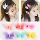 Top Sale 1 pair Kids Baby Chiffon Butterfly Girls Hair Pin H