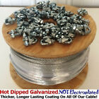 Steel Aircraft Cable Wire Rope Hot Dipped Steel Galvanized Cable w/ Cable Clamps