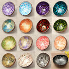 21 Type Natural Coconut Shell Bowl Dishes Handmade Mosaic Paint Craft Decoration