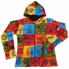 M L XL FAIR TRADE NEPAL COTTON PATCHWORK HOODED FLEECE LINED JACKET 12 14 16 18