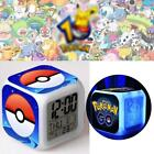 Pokemon GO! 7 Colors Changing LED Night Light Digital Glowing Desk Alarm Clock