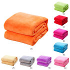 Soft Home Warm Solid Micro Plush Fleece Blanket Throw Rug Sofa Bedding Mat US image