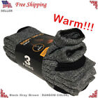 New 3 Pairs Mens Thermal Heavy Duty Winter Warm Crew Work BOOTS Socks Size 9-13