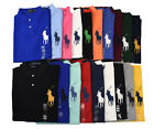 Men Polo Ralph Lauren Big Pony Mesh Polo Shirt - CUSTOM SLIM - S M L XL XXL