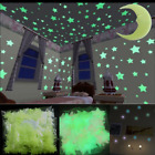 100 Stars And Moon Ceiling Glow In The Dark Plastic Sticker Baby Kids Wall Decal